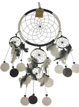 "6 1/4"" Black & White dream catcher"