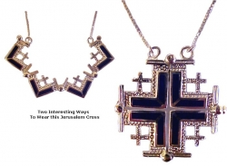 Jerusalem Cross with Lapis Stones Duet