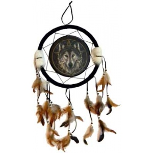 Wolf dream catcher 13""