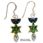 Messianic Silver & Crystals Earrings