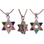 Star of David with CZ Multi Color Stones