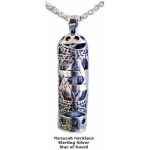 Mezuzah Necklace with Star of David