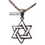 Entwined Small Silver Star of David